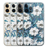 Casimoda iPhone 12 Pro transparant hoesje - Touch of flowers