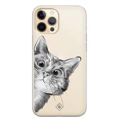 Casimoda iPhone 12 Pro transparant hoesje - Peekaboo