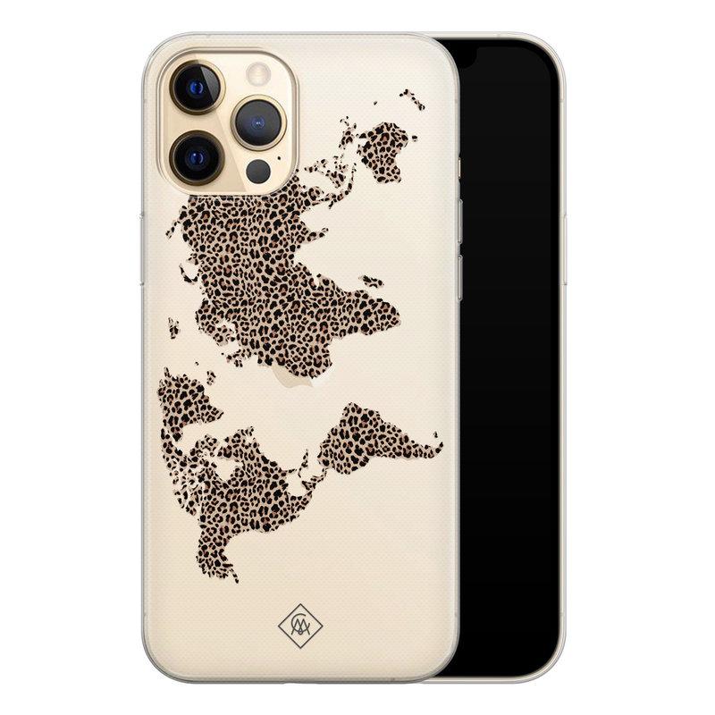 Casimoda iPhone 12 Pro transparant hoesje - Wild world