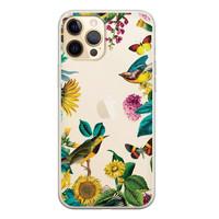 Casimoda iPhone 12 Pro transparant hoesje - Sunflowers