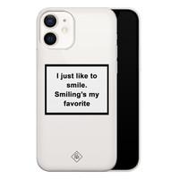 Casimoda iPhone 12 transparant hoesje - Always smiling