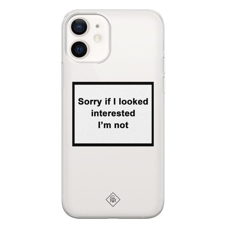 Casimoda iPhone 12 transparant hoesje - Not interested