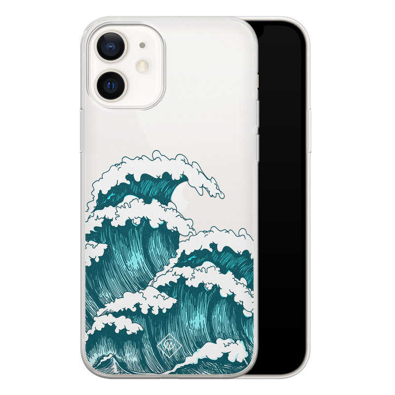 Casimoda iPhone 12 transparant hoesje - Wave