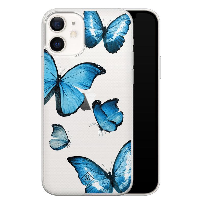 Casimoda iPhone 12 transparant hoesje - Vlinders