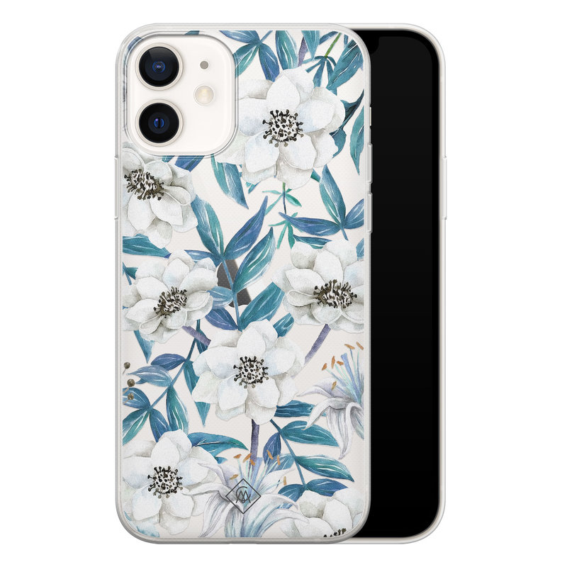 Casimoda iPhone 12 transparant hoesje - Touch of flowers