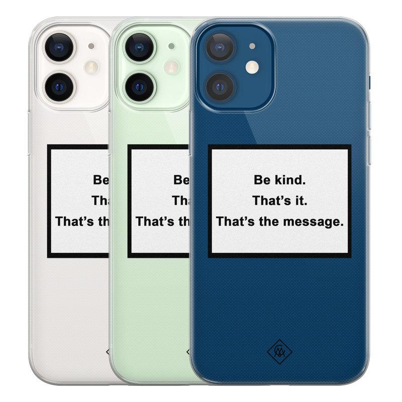 Casimoda iPhone 12 transparant hoesje - Be kind