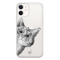 Casimoda iPhone 12 transparant hoesje - Peekaboo