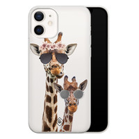 Casimoda iPhone 12 transparant hoesje - Giraffe