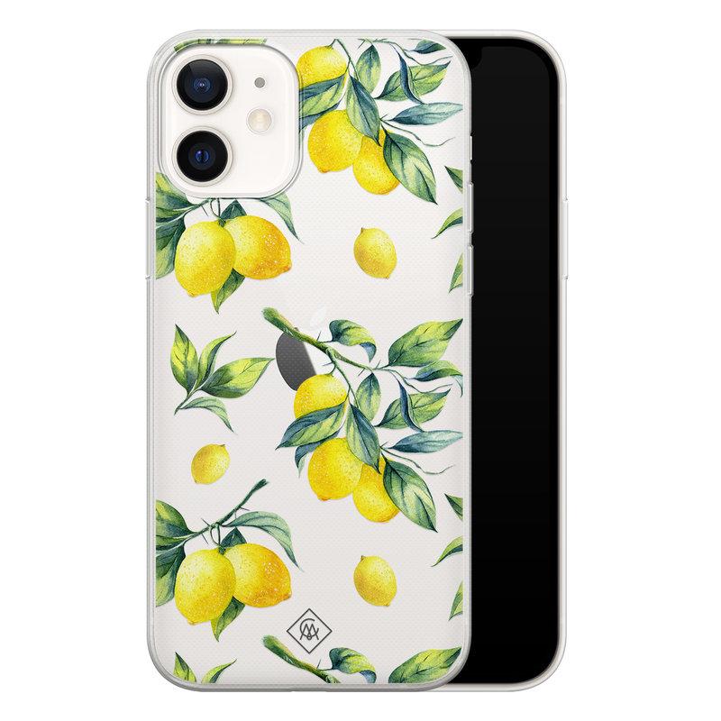 Casimoda iPhone 12 transparant hoesje - Lemons