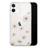 Casimoda iPhone 12 transparant hoesje - Daisies