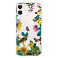 Casimoda iPhone 12 transparant hoesje - Sunflowers
