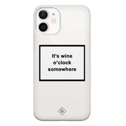 Casimoda iPhone 12 mini transparant hoesje - Wine time