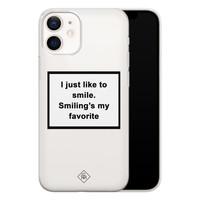 Casimoda iPhone 12 mini transparant hoesje - Always smiling