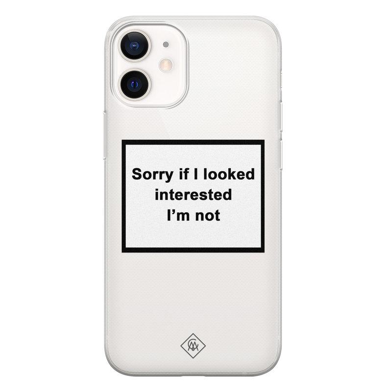 Casimoda iPhone 12 mini transparant hoesje - Not interested