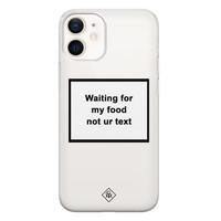 Casimoda iPhone 12 mini transparant hoesje - Waiting for my food