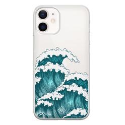 Casimoda iPhone 12 mini transparant hoesje - Wave