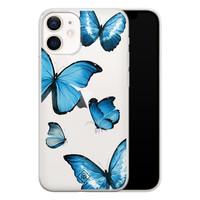 Casimoda iPhone 12 mini transparant hoesje - Vlinders