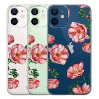 Casimoda iPhone 12 mini transparant hoesje - Red flowers