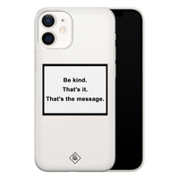 Casimoda iPhone 12 mini transparant hoesje - Be kind