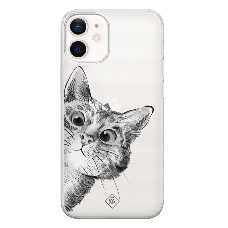 Casimoda iPhone 12 mini transparant hoesje - Peekaboo