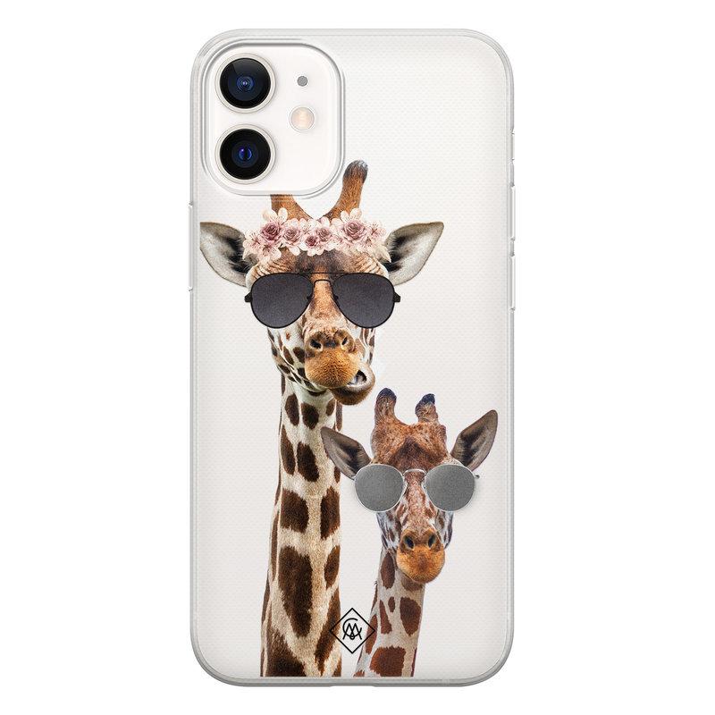 Casimoda iPhone 12 mini transparant hoesje - Giraffe