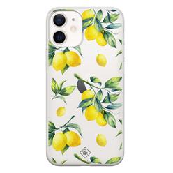 Casimoda iPhone 12 mini transparant hoesje - Lemons