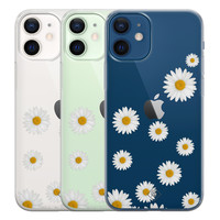 Casimoda iPhone 12 mini transparant hoesje - Daisies
