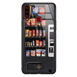 Casimoda Samsung Galaxy A20s glazen hardcase - Snoepautomaat