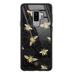 Casimoda Samsung Galaxy S9 Plus glazen hardcase - Bee yourself