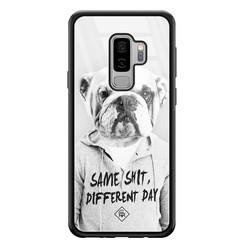 Casimoda Samsung Galaxy S9 Plus glazen hardcase - Bulldog