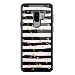 Casimoda Samsung Galaxy S9 Plus glazen hardcase - Hart streepjes