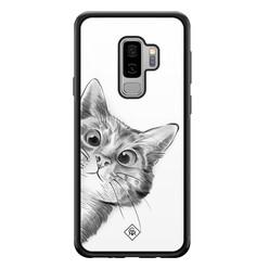 Casimoda Samsung Galaxy S9 Plus glazen hardcase - Peekaboo