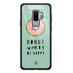 Casimoda Samsung Galaxy S9 Plus glazen hardcase - Donut worry