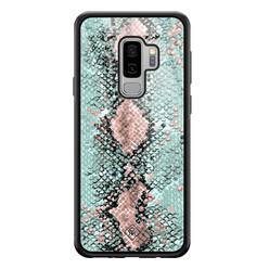 Casimoda Samsung Galaxy S9 Plus glazen hardcase - Baby snake