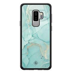 Casimoda Samsung Galaxy S9 Plus glazen hardcase - Touch of mint