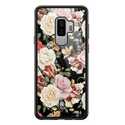 Casimoda Samsung Galaxy S9 Plus glazen hardcase - Flowerpower