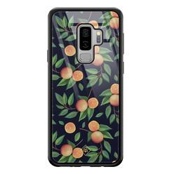 Casimoda Samsung Galaxy S9 Plus glazen hardcase - Orange lemonade