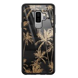 Casimoda Samsung Galaxy S9 Plus glazen hardcase - Palmbomen