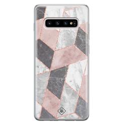 Casimoda Samsung Galaxy S10 Plus siliconen hoesje - Stone grid