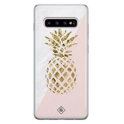 Casimoda Samsung Galaxy S10 Plus siliconen hoesje - Ananas