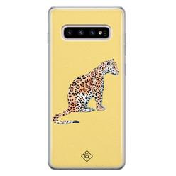 Casimoda Samsung Galaxy S10 Plus siliconen hoesje - Leo wild