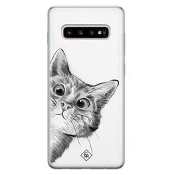 Casimoda Samsung Galaxy S10 Plus siliconen hoesje - Peekaboo