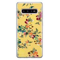 Casimoda Samsung Galaxy S10 Plus siliconen hoesje - Floral days