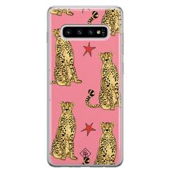Casimoda Samsung Galaxy S10 Plus siliconen hoesje - The pink leopard