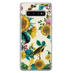 Casimoda Samsung Galaxy S10 Plus siliconen hoesje - Sunflowers