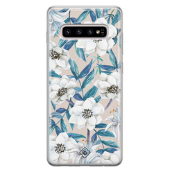 Casimoda Samsung Galaxy S10 Plus siliconen hoesje - Touch of flowers