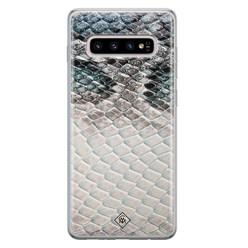 Casimoda Samsung Galaxy S10 Plus siliconen hoesje - Oh my snake