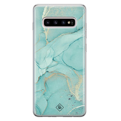 Casimoda Samsung Galaxy S10 Plus siliconen hoesje - Touch of mint
