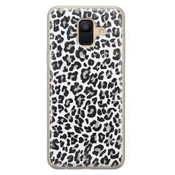 Casimoda Samsung Galaxy A6 2018 siliconen hoesje - Luipaard grijs
