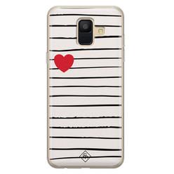Casimoda Samsung Galaxy A6 2018 siliconen hoesje - Heart queen